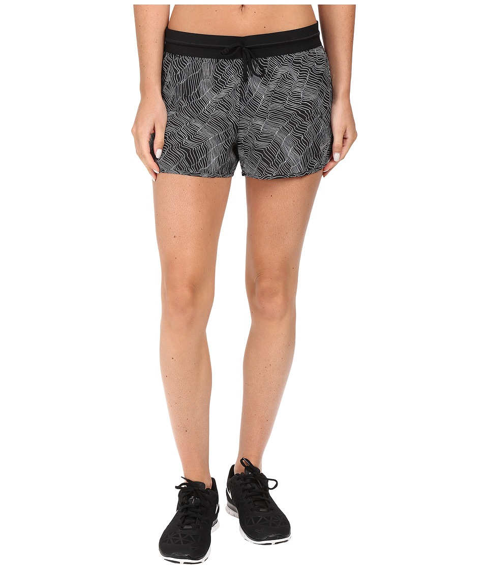 Nike - Dry 2 Running Short (Black/Black/Reflective Silver) Women's Shorts