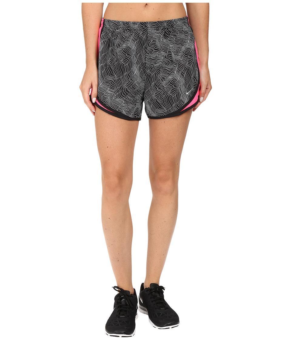 Nike - Dry Tempo Print Running Short (Black/Hyper Pink/Black/Wolf Grey) Women's Shorts