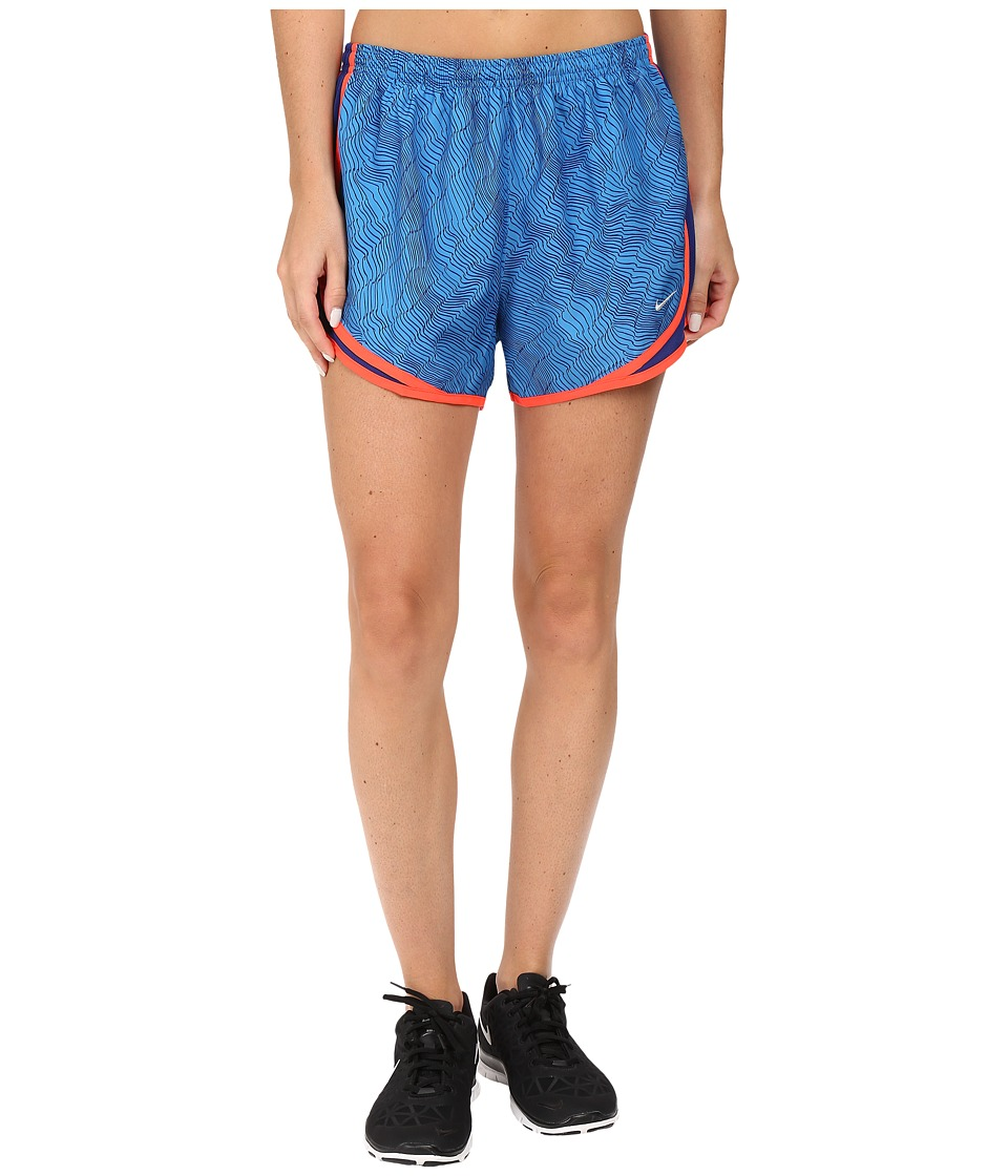 Nike - Dry Tempo Print Running Short (Light Photo Blue/Deep Royal Blue/Wolf Grey) Women's Shorts