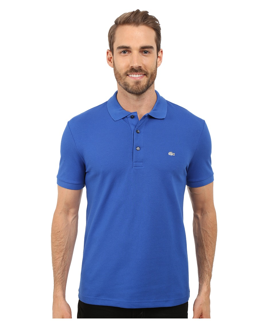 Lacoste - Stretch Petit Piqu Slim Fit Polo (Delta Blue) Men's Short Sleeve Pullover