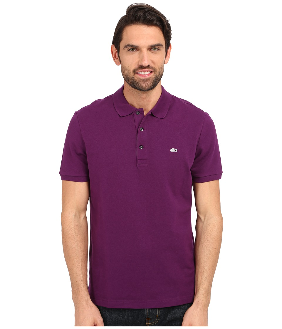 Lacoste - Stretch Petit Piqu Slim Fit Polo (Boheme Purple) Men's Short Sleeve Pullover