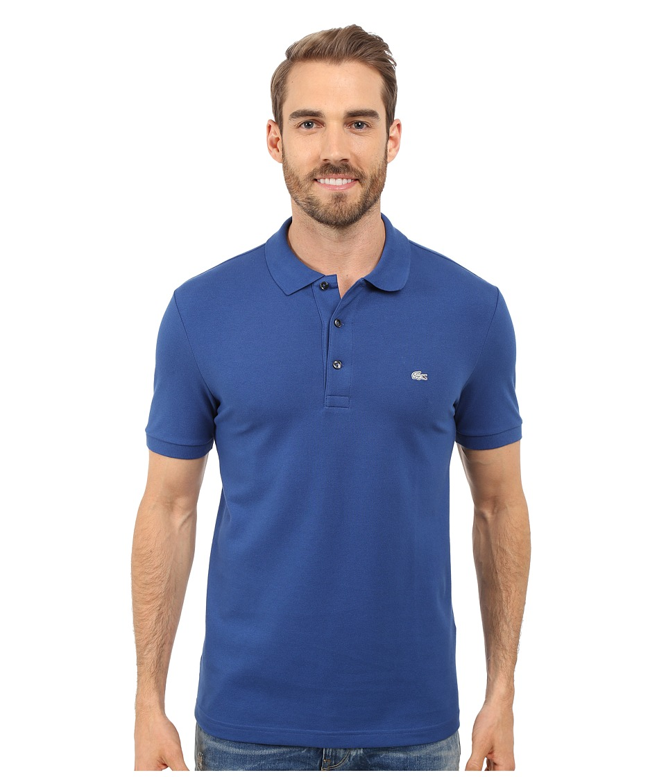 Lacoste - Stretch Petit Piqu Slim Fit Polo (Sailboat) Men's Short Sleeve Pullover