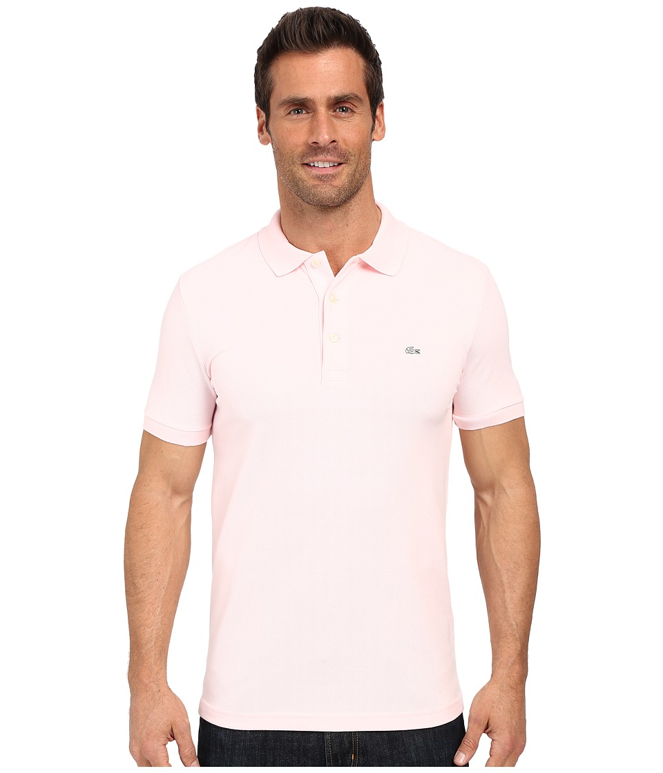 Lacoste - Stretch Petit Piqu Slim Fit Polo (Flamingo) Men's Short Sleeve Pullover