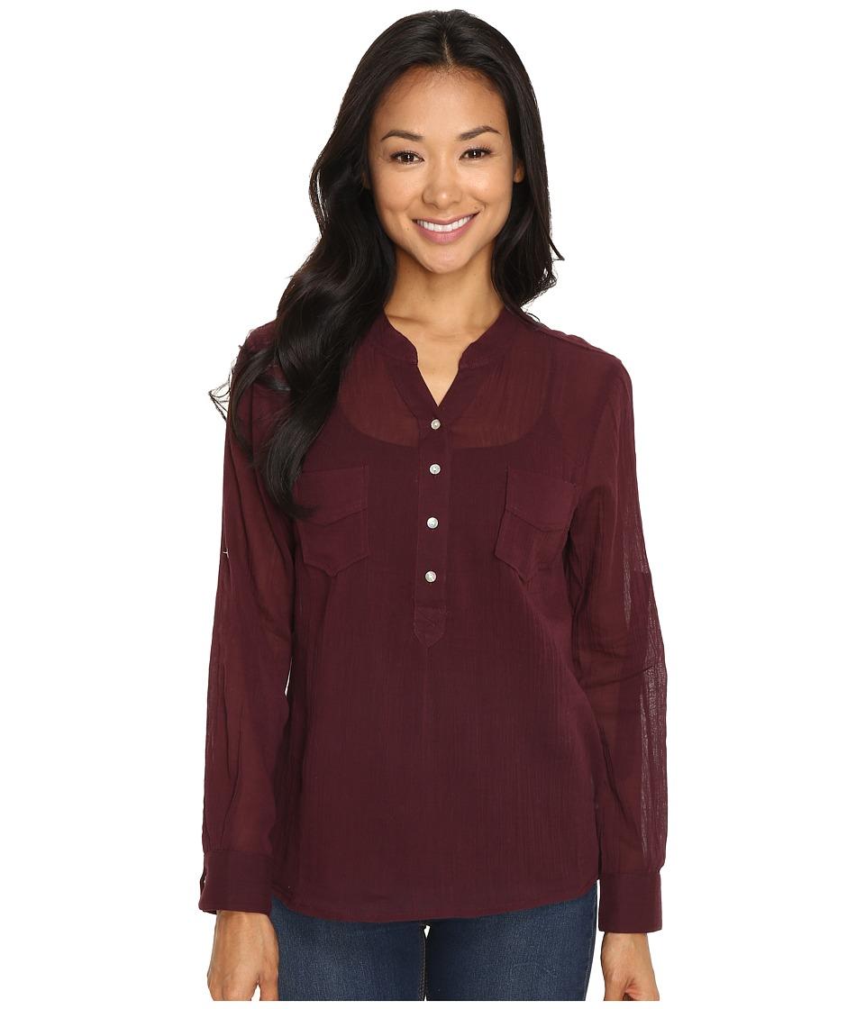 Carve Designs - Dylan Chambray Shirt (Mulberry) Women's Long Sleeve Pullover