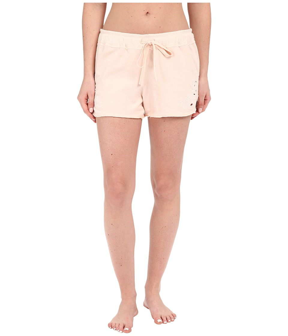 Lucky Brand - Embroidered French Terry Shorts (Heather Grey) Women's Pajama