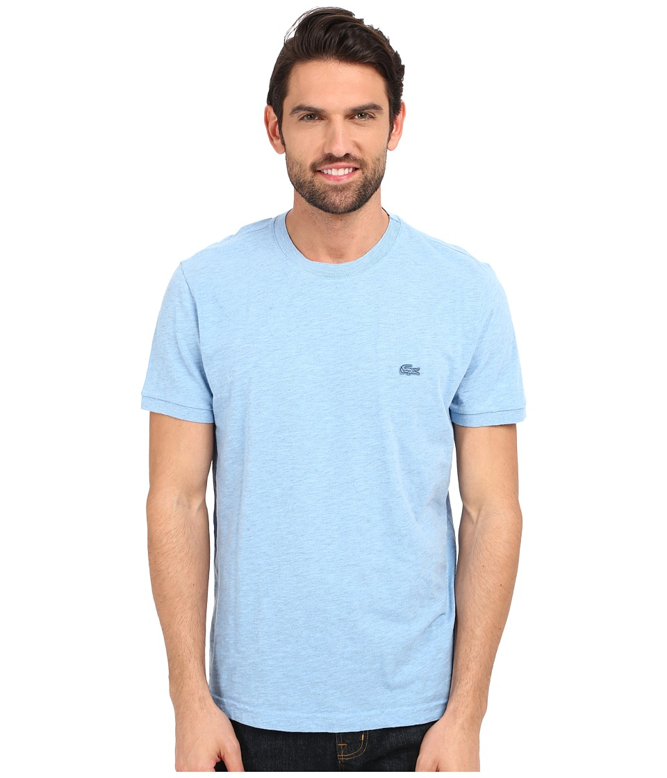 Lacoste - Short Sleeve Vintage Washed Tee (Nattier Blue Dyed) Men's Clothing