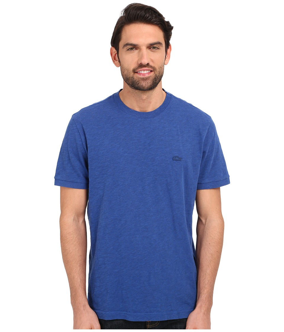 Lacoste - Short Sleeve Vintage Washed Tee (Sailboat Dyed) Men's Clothing