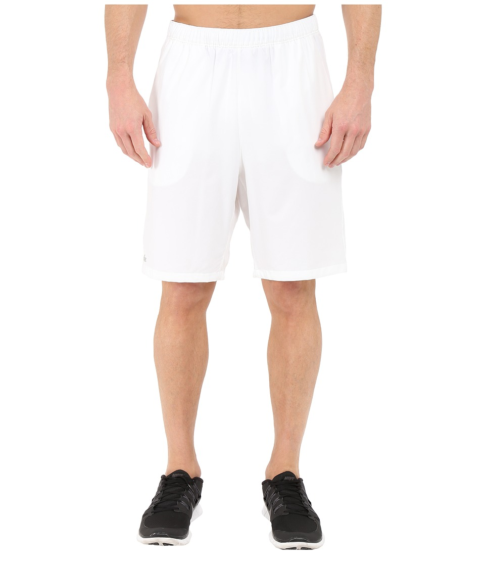 Lacoste - Sport Performance Stretch Taffeta Shorts (White) Men's Shorts