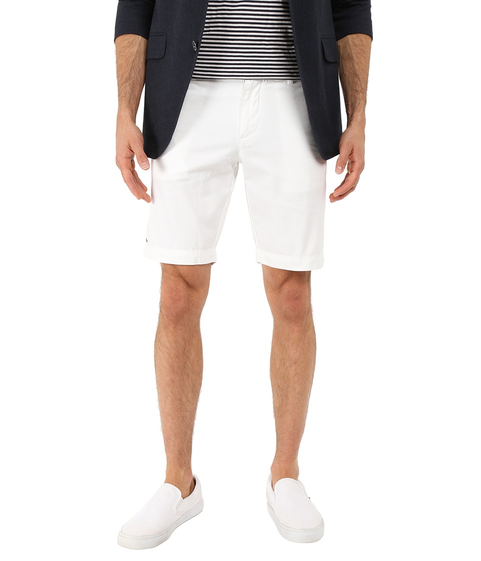 Lacoste - Slim Fit Bermuda Short (White) Men's Shorts