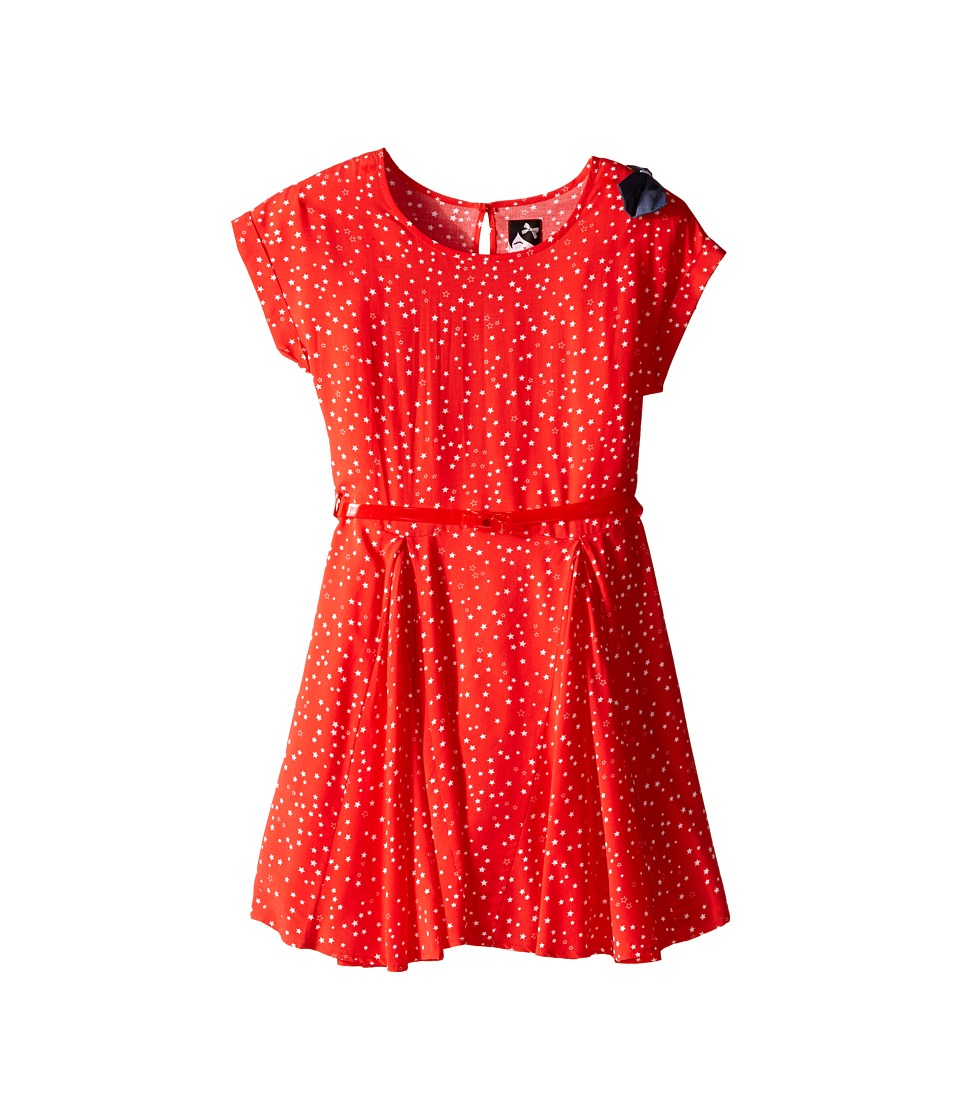 IKKS - Dress with Star Print (Toddler/Little Kids/Big Kids) (Red/Orange) Girl's Dress
