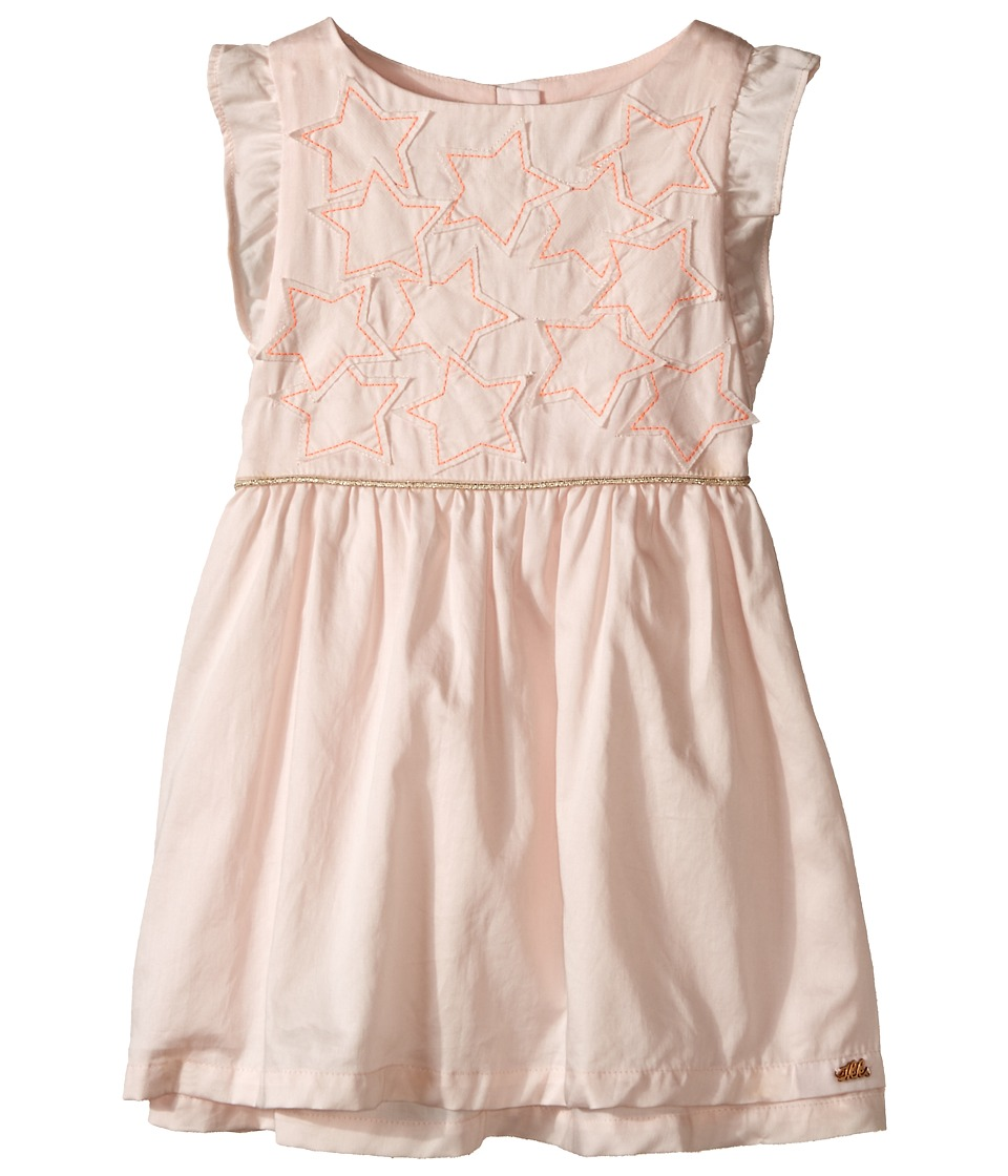 IKKS - Cotton Dress with Cut Out Stars/Buttons on Back (Toddler/Little Kids/Big Kids) (Pink Powder) Girl's Dress