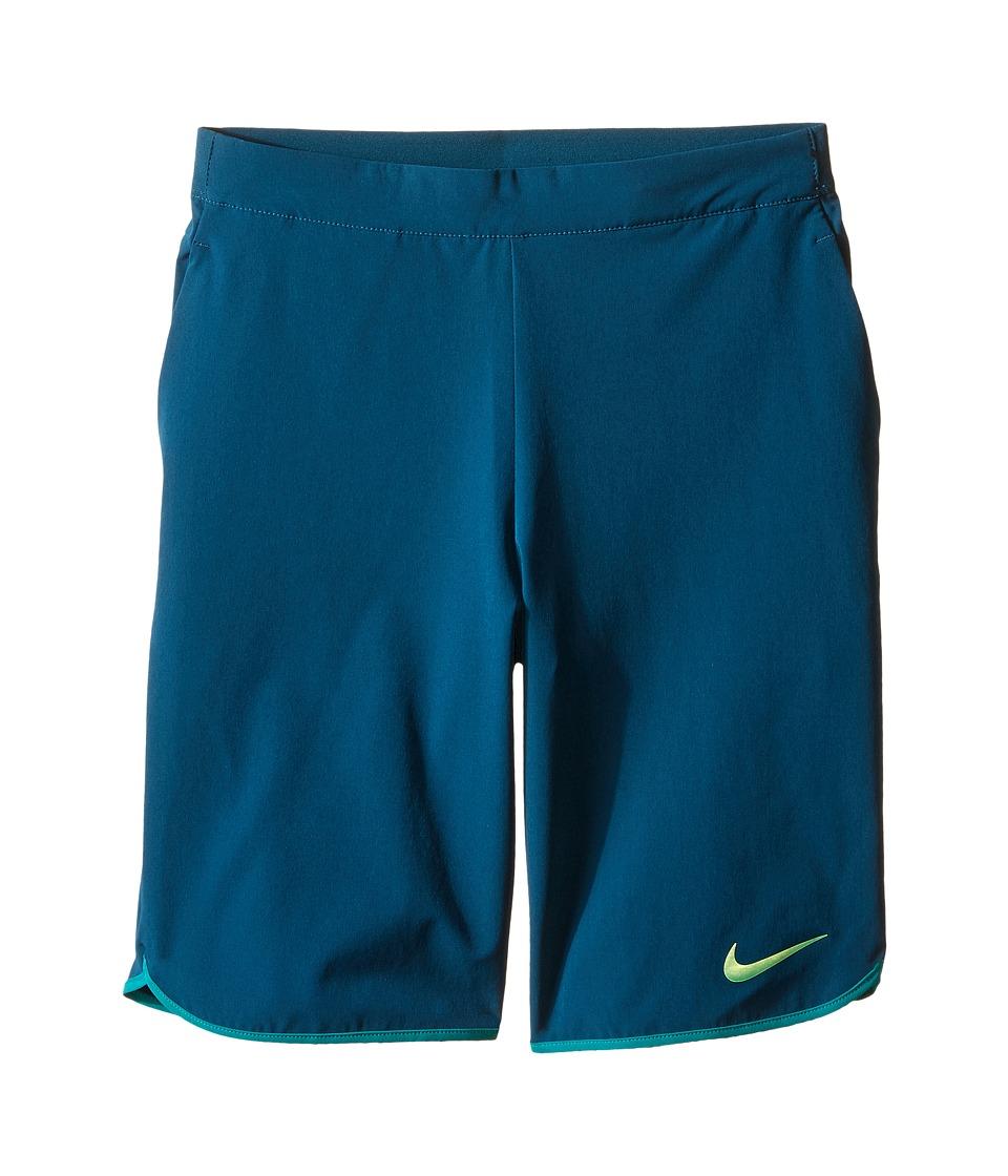 Nike Kids - Gladiator Tennis Short (Little Kids/Big Kids) (Midnight Turquoise/Rio Teal/Rio Teal/Volt) Boy's Shorts