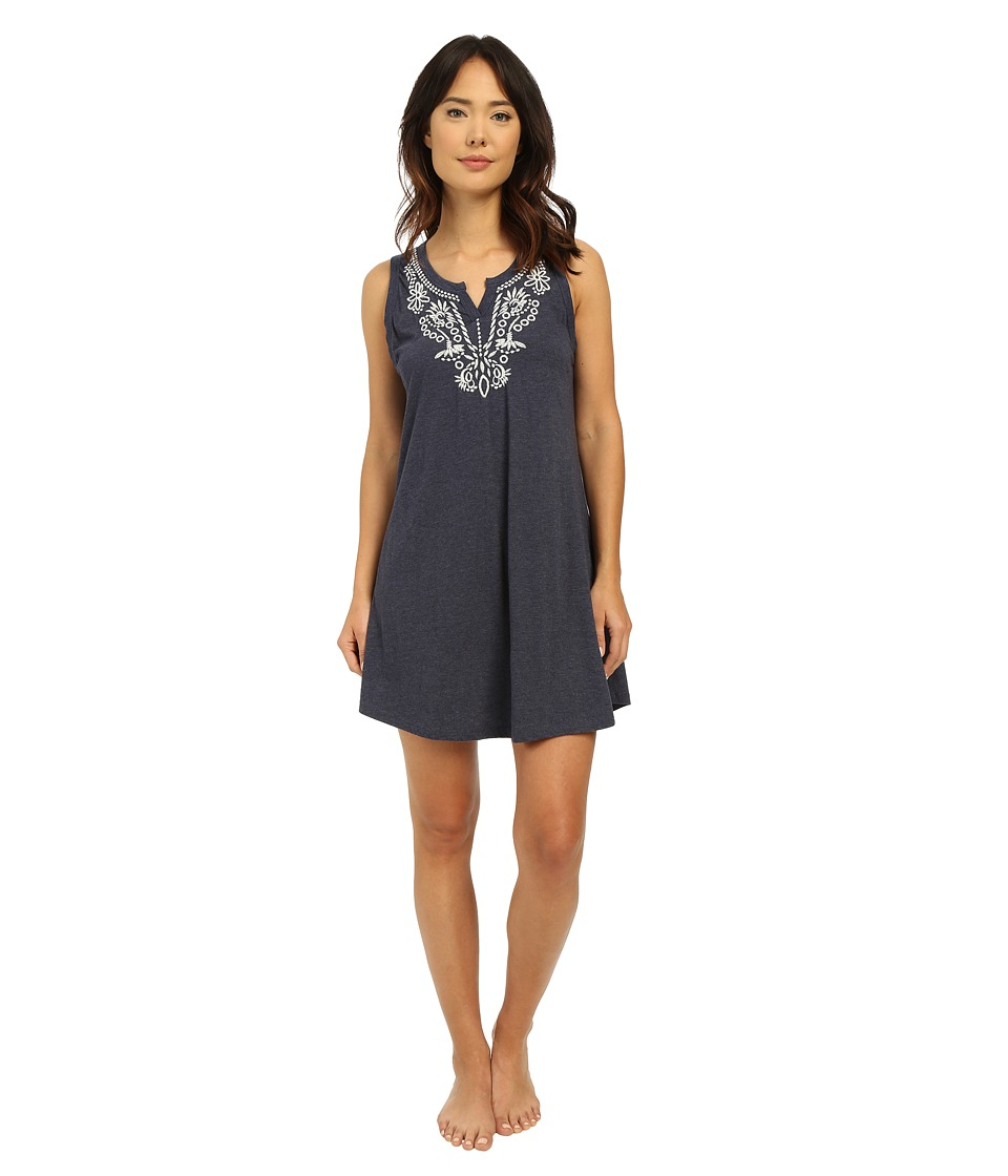 Lucky Brand - Embroidered Chemise (Navy) Women's Pajama