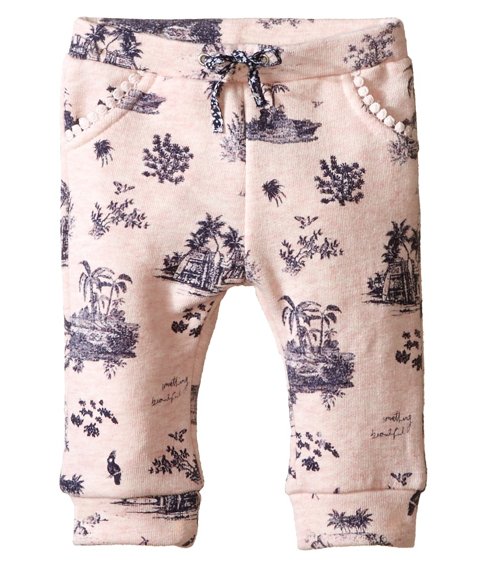 IKKS - Hawaiian Toile Print Jersey Pants (Infant/Toddler) (Printed Light Pink) Girl's Casual Pants