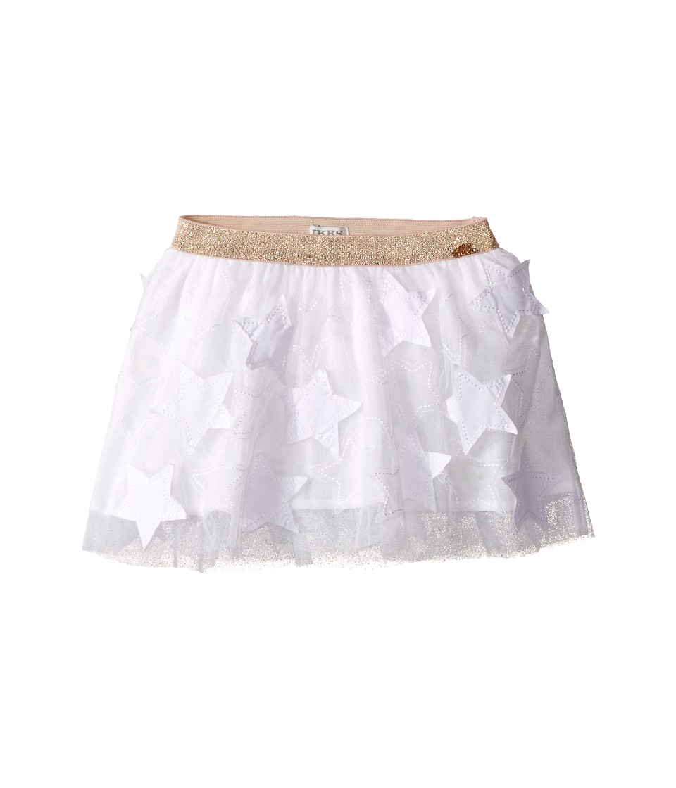 IKKS - Tulle Skirt with Cut Out Stars (Toddler/Little Kids/Big Kids) (White) Girl's Skirt