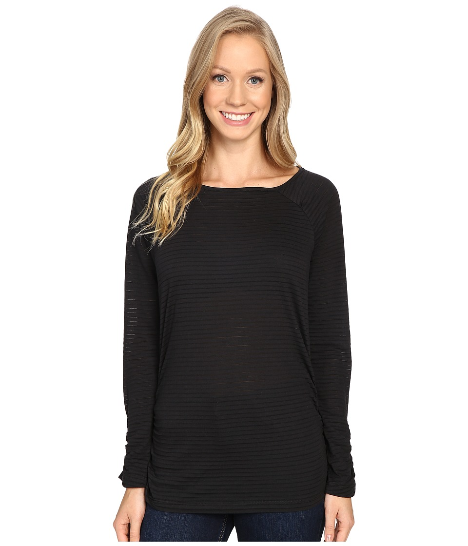 Carve Designs - Cannon Long Sleeve (Black) Women's Clothing