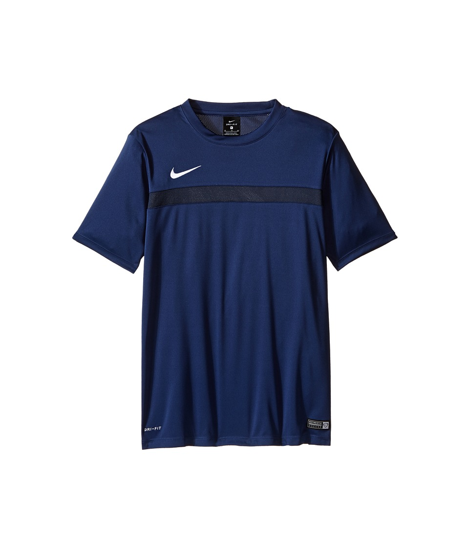 Nike Kids - Dry Academy Short Sleeve Training Shirt (Little Kids/Big Kids) (Midnight Navy/Dark Obsidian/White) Boy's Short Sleeve Pullover