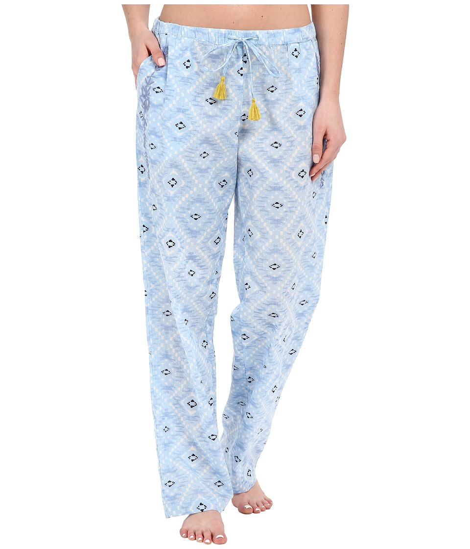 Lucky Brand - Woven Embroidered Pants (Blue Tile) Women's Pajama