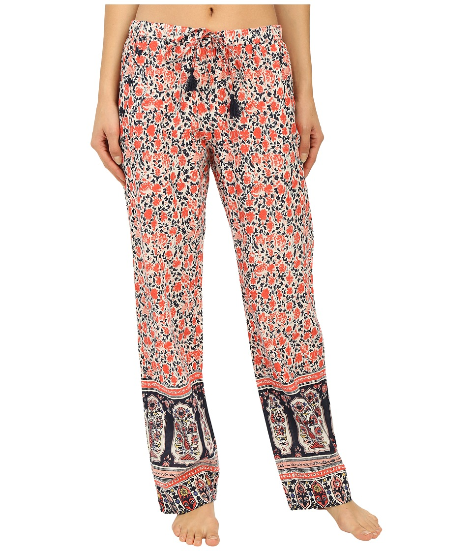 Lucky Brand - Woven Embroidered Pants (Coral Bohemian Garden) Women's Pajama