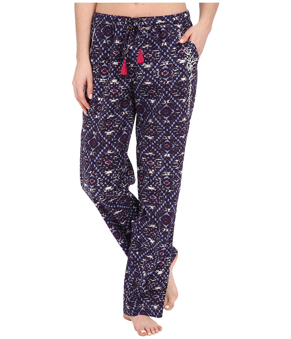 Lucky Brand - Woven Embroidered Pants (Fig Tile) Women's Pajama