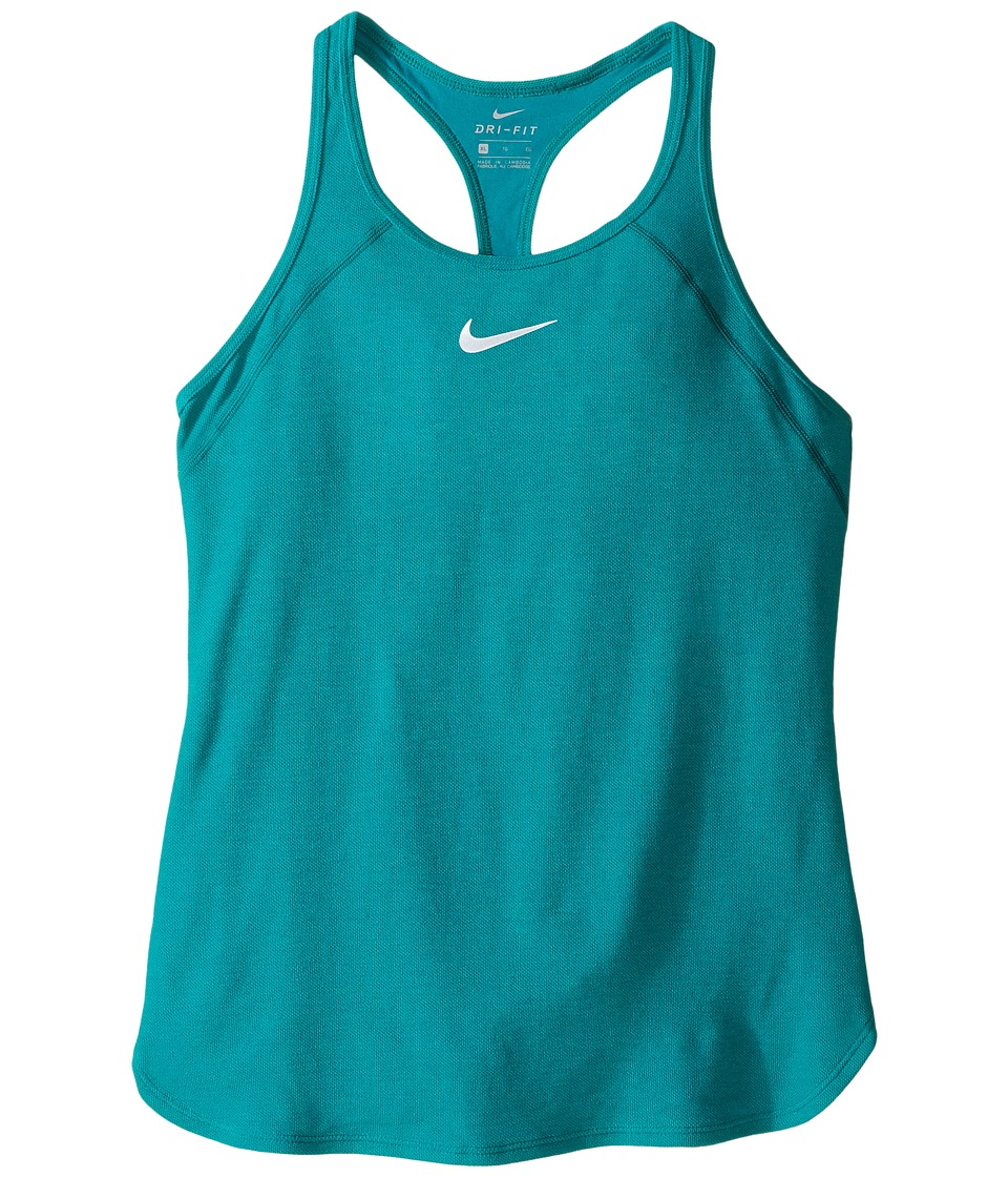 Nike Kids - Court Slam Tennis Tank Top (Little Kids/Big Kids) (Rio Teal/Rio Teal/White) Girl's Sleeveless