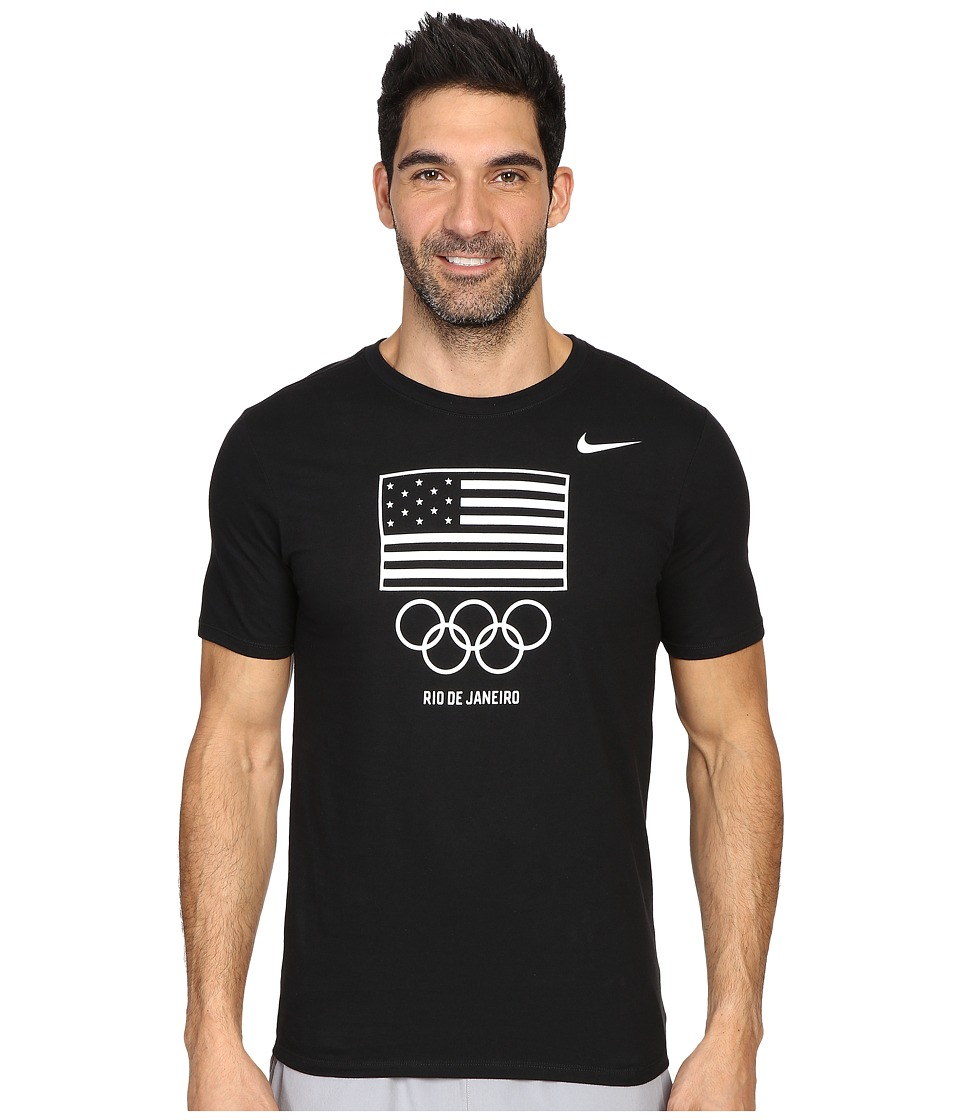 Nike - Team USA Flag T-Shirt (Black/White) Men's Clothing