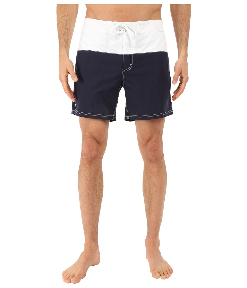 Lacoste - Color Bloc Swim Short (Navy Blue/White/Wasp) Men's Swimwear