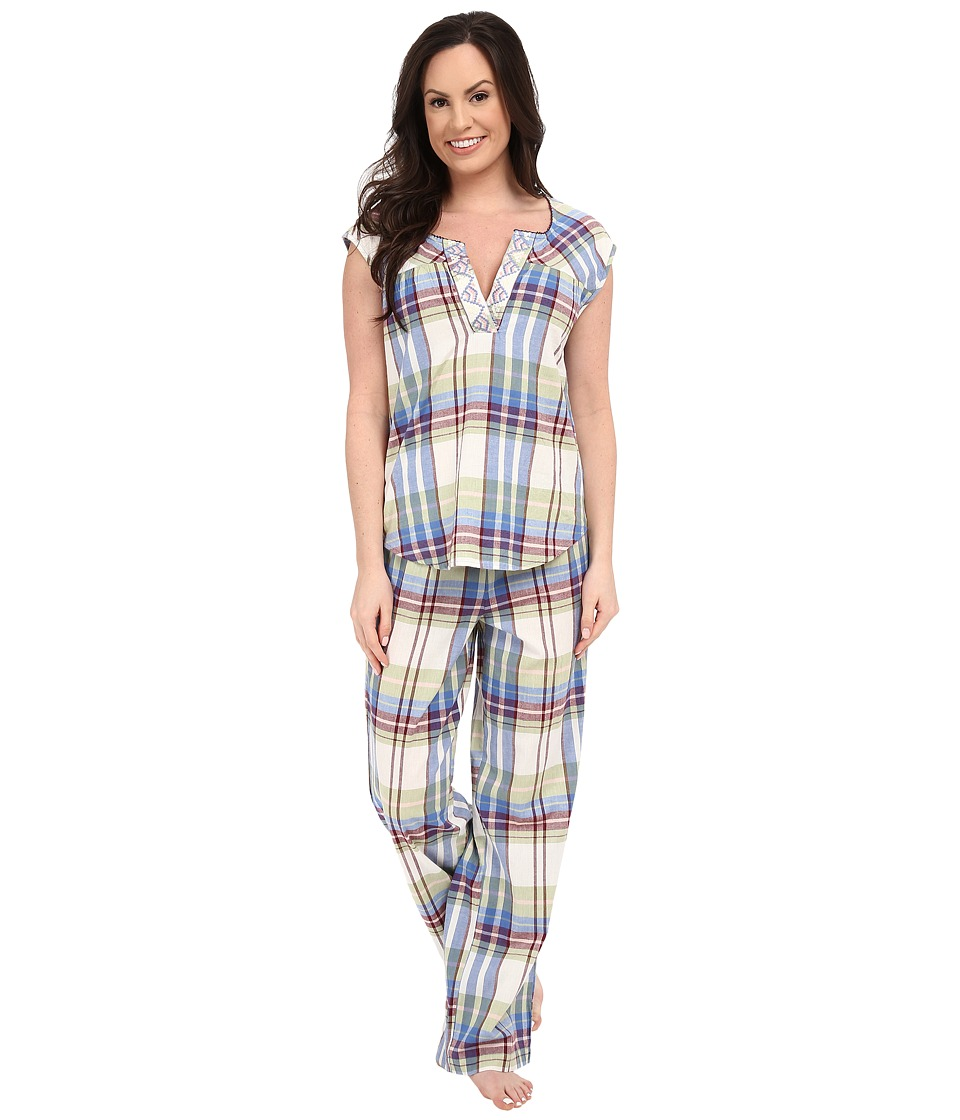 Lucky Brand - Woven Pajama (Chance Plaid) Women's Pajama Sets