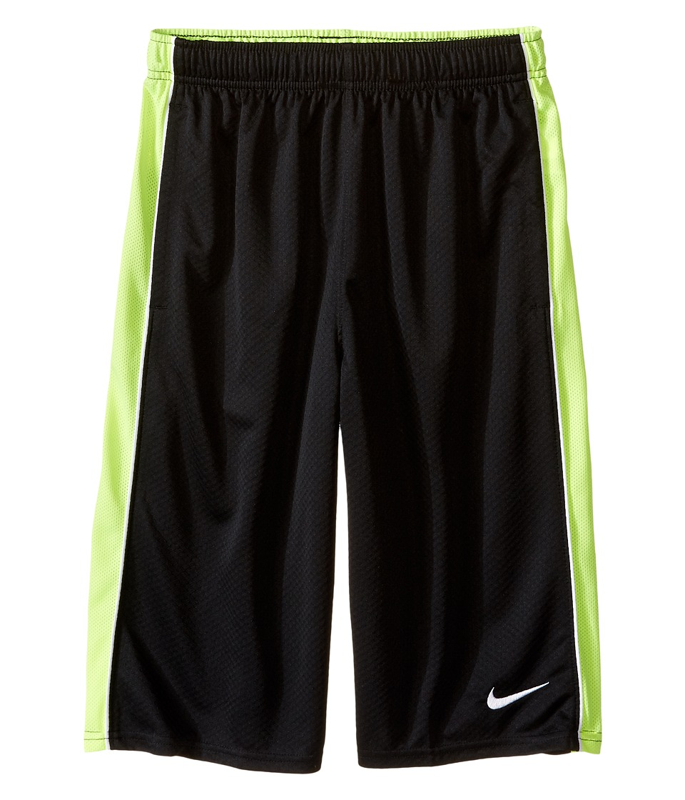 Nike Kids - Aceler8 Short (Little Kids/Big Kids) (Black/Volt/White/White) Boy's Shorts