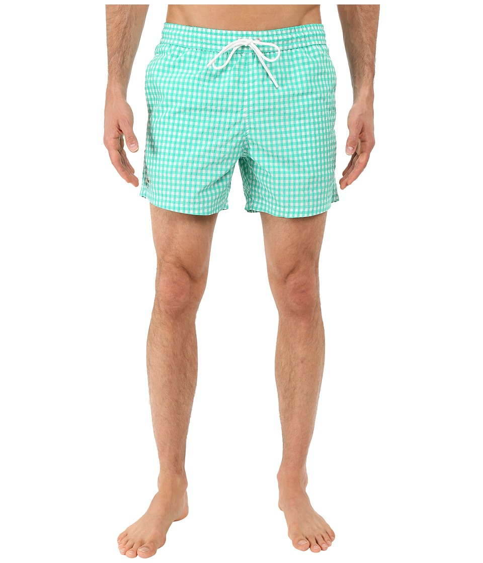 Lacoste - Taffeta Gingham Swim Short 5 (Papeete/White) Men's Swimwear