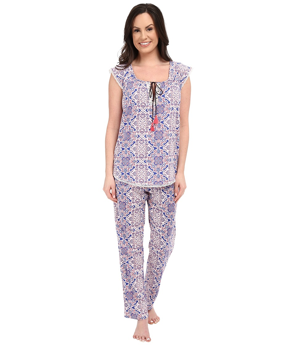 Lucky Brand - Knit Tassel Pajama (Portu Tile) Women's Pajama Sets