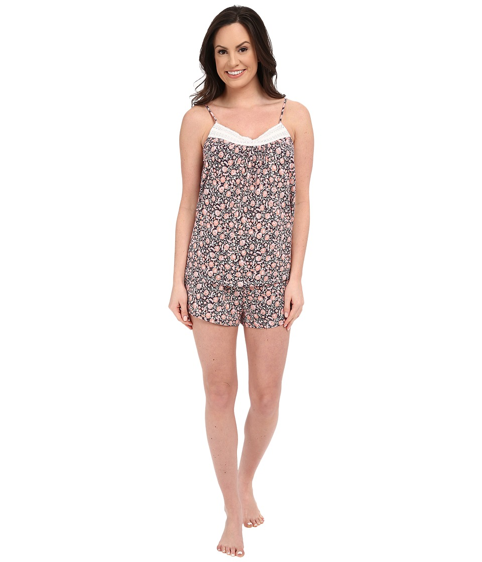 Lucky Brand - Swing Shorty PJ (Fig Sari Floral) Women's Pajama Sets
