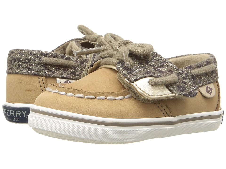 Sperry Kids - Bluefish Crib Jr (Infant/Toddler) (Linen/Cheetah) Girl's Shoes
