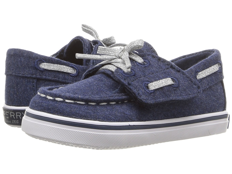 Sperry Kids - Bahama Crib Jr. (Infant/Toddler) (Navy) Girls Shoes
