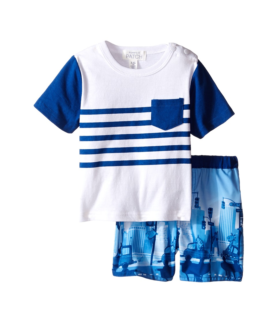 Pumpkin Patch Kids - Jungle Stripe Set (Infant) (Victory Blue) Boy's Active Sets