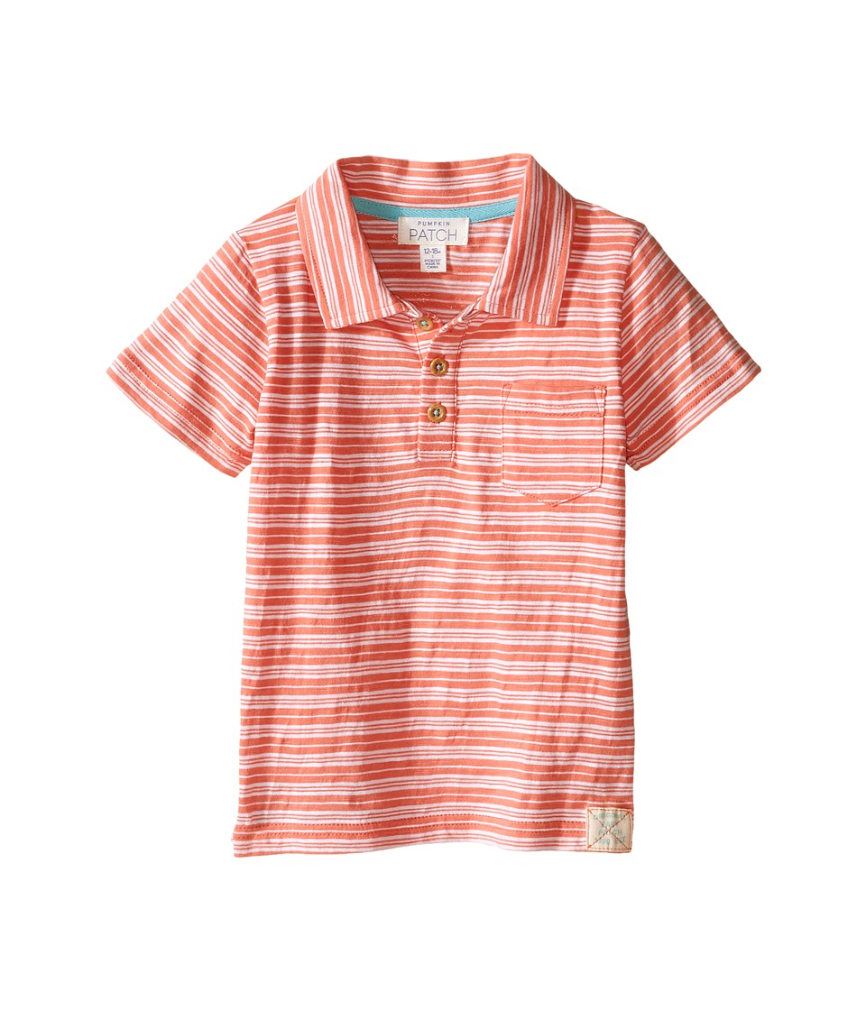 Pumpkin Patch Kids - Mini Stripe Polo (Infant) (Sunset Orange) Boy's Short Sleeve Knit