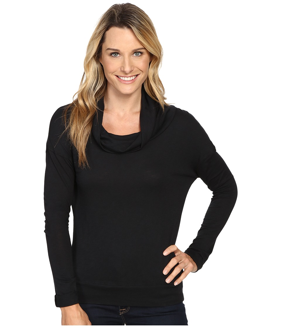 Carve Designs - Cortez Cowl Neck (Black) Women's Clothing