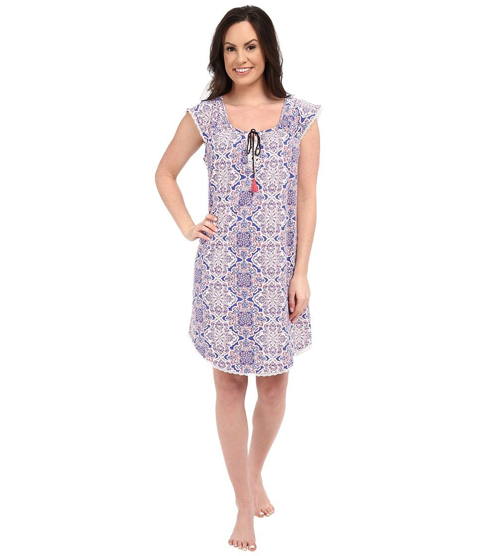 Lucky Brand - Knit Tassel Sleepshirt (Portu Tile) Women's Pajama
