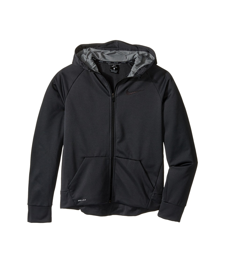 Nike Kids - Therma Full-Zip Hoodie (Little Kids/Big Kids) (Anthracite/Dark Steel Grey) Boy's Sweatshirt