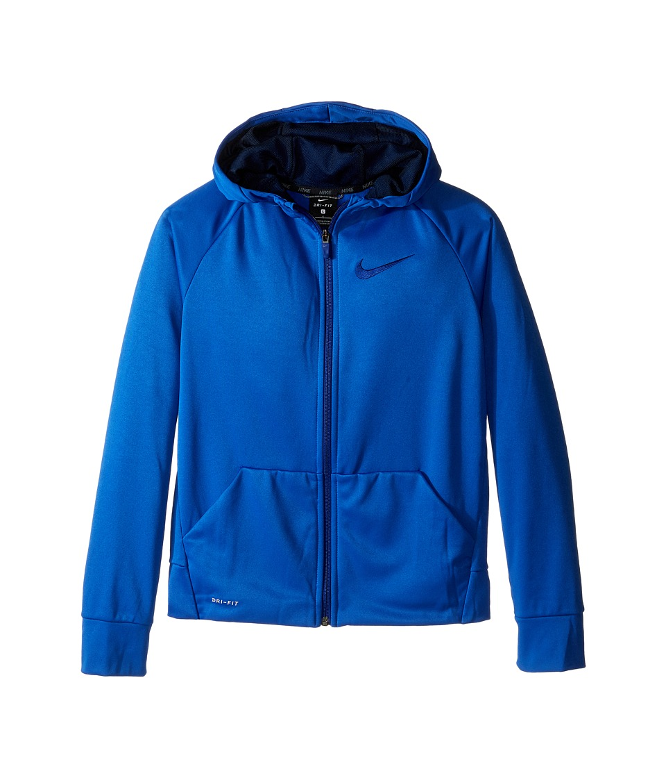Nike Kids - Therma Full-Zip Hoodie (Little Kids/Big Kids) (Game Royal/Obsidian) Boy's Sweatshirt