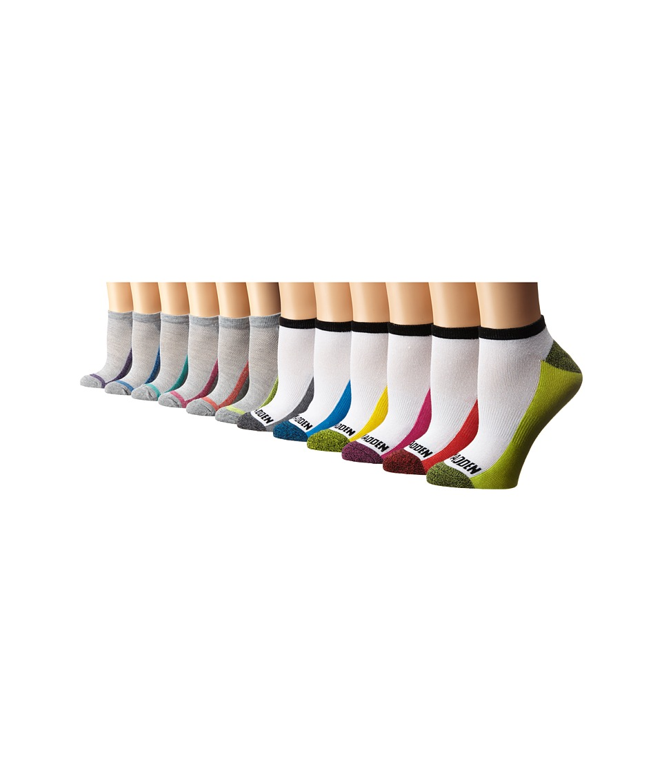 Steve Madden - 12-Pack Athletic Low Cut Sock (White/Heather Grey) Women