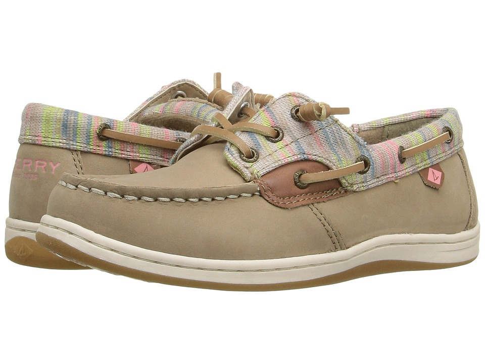Sperry Kids - Songfish (Little Kid/Big Kid) (Greige/Knit Multi) Girl's Shoes