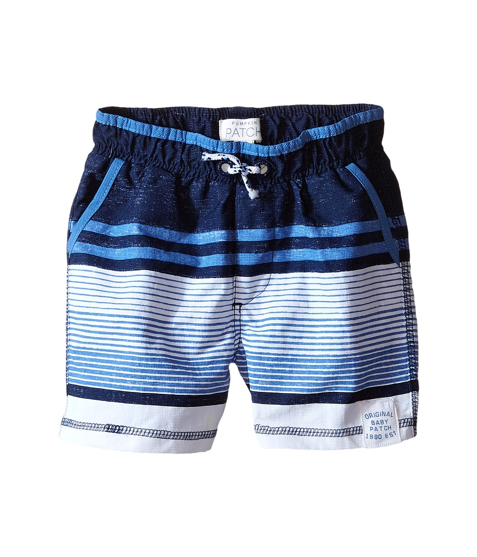 Pumpkin Patch Kids - Striped Boardshorts (Infant) (Aqua Mist) Boy's Swimwear