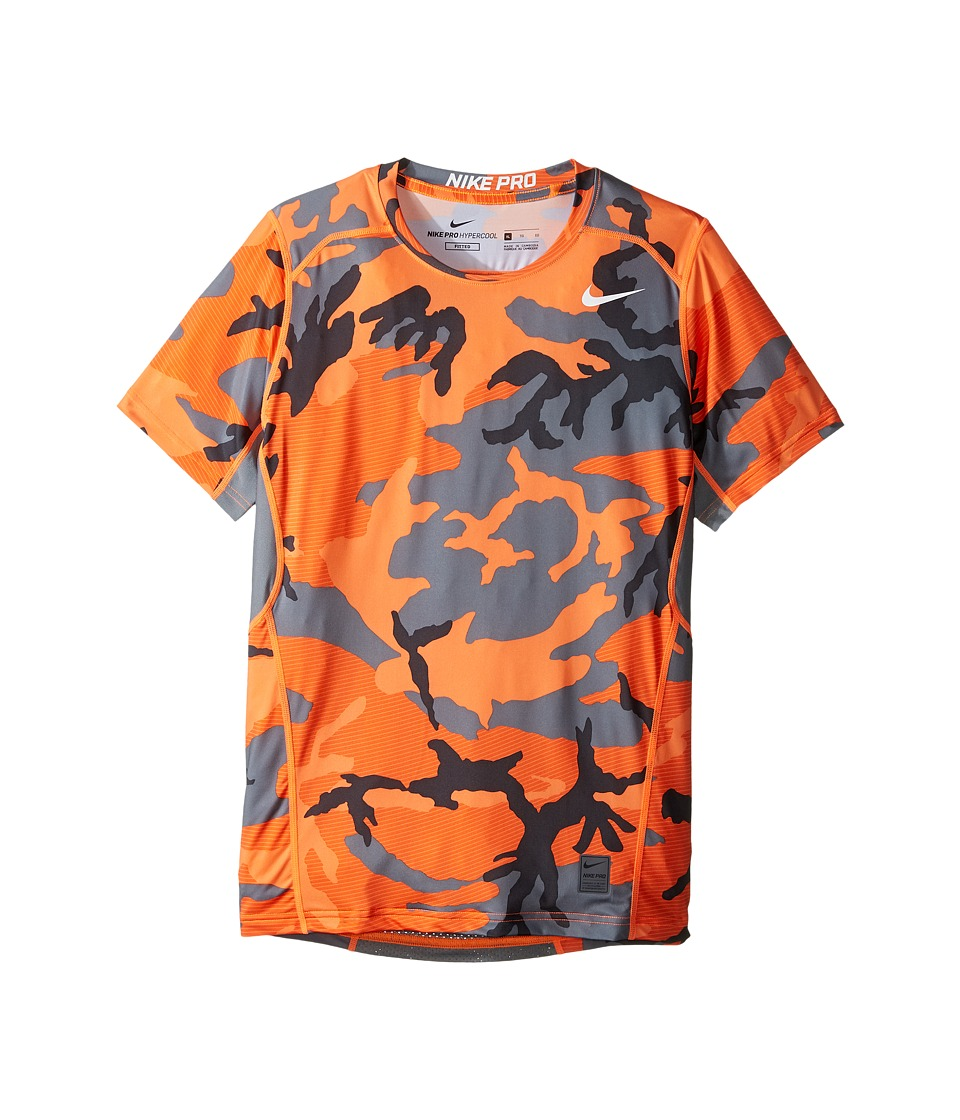 Nike Kids - Pro Hypercool Allover Print Shirt (Little Kids/Big Kids) (Total Orange/Safety Orange/White) Boy's Clothing