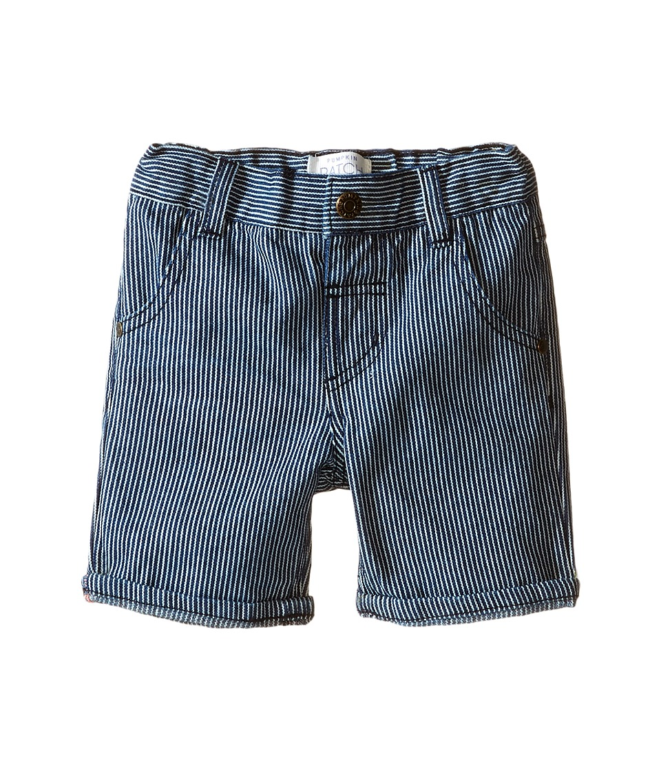 Pumpkin Patch Kids - Ticking Stripe Shorts (Infant) (Blue Spectrum) Boy's Shorts