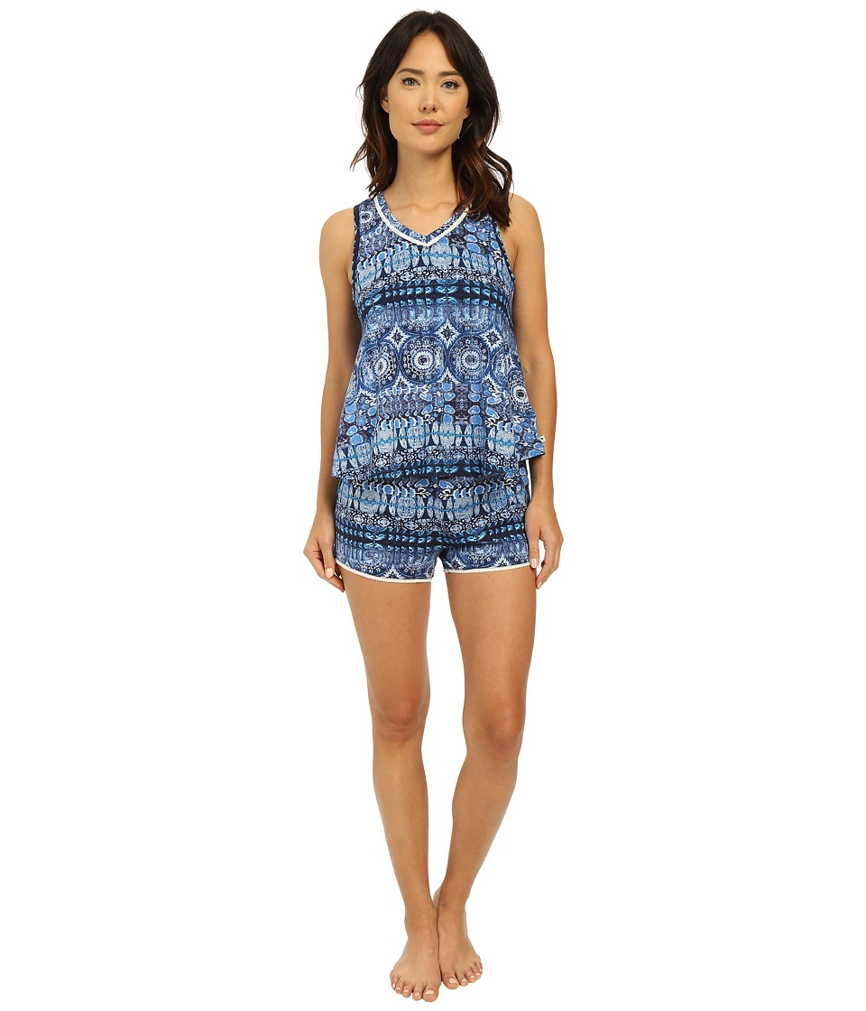 Lucky Brand - Knit Shorty Set (Persian Holiday) Women's Pajama Sets