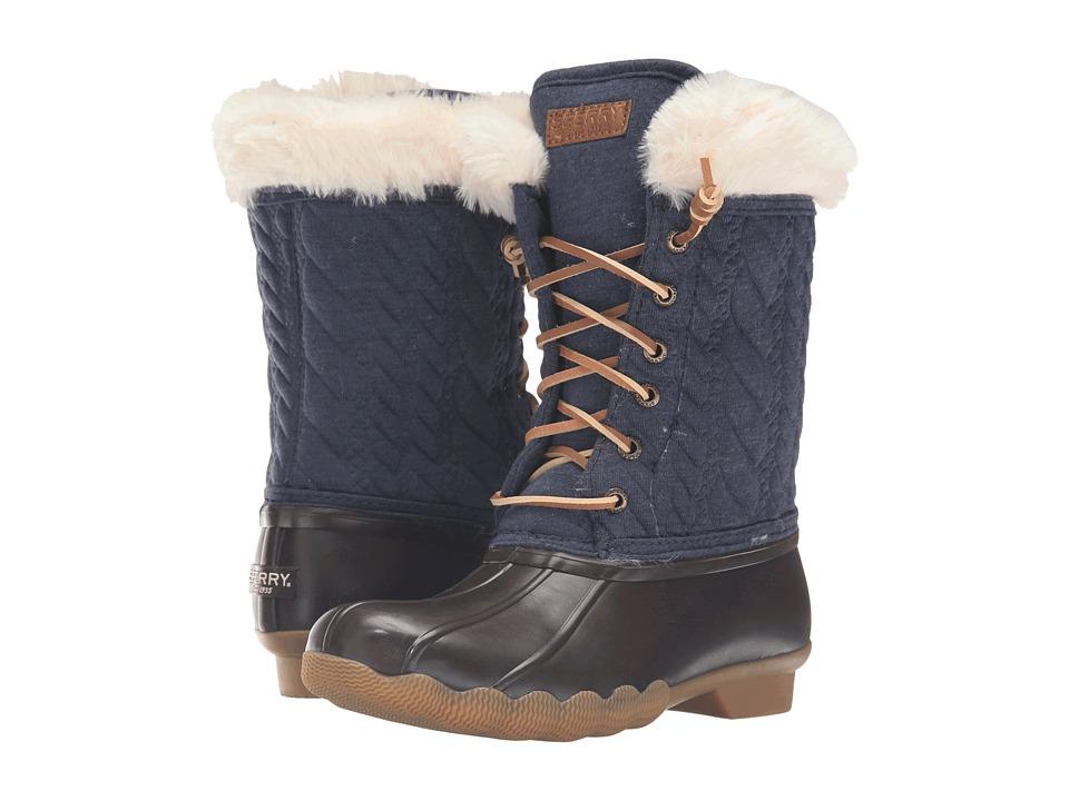 Sperry Kids - Fashion Saltwater Boot (Little Kid/Big Kid) (Navy) Girls Shoes