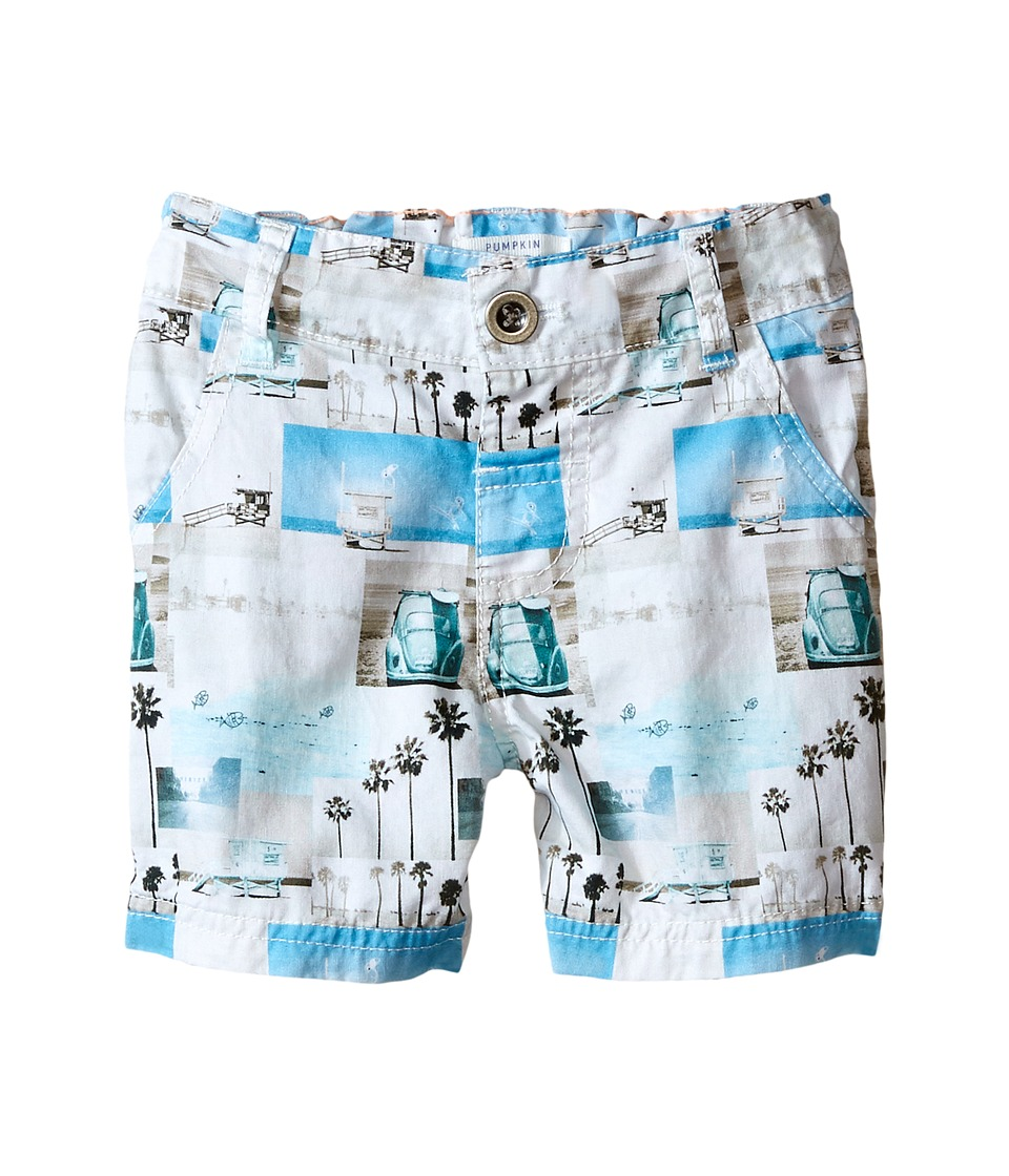 Pumpkin Patch Kids - Vacation Snaps Shorts (Infant) (Super White) Boy's Shorts