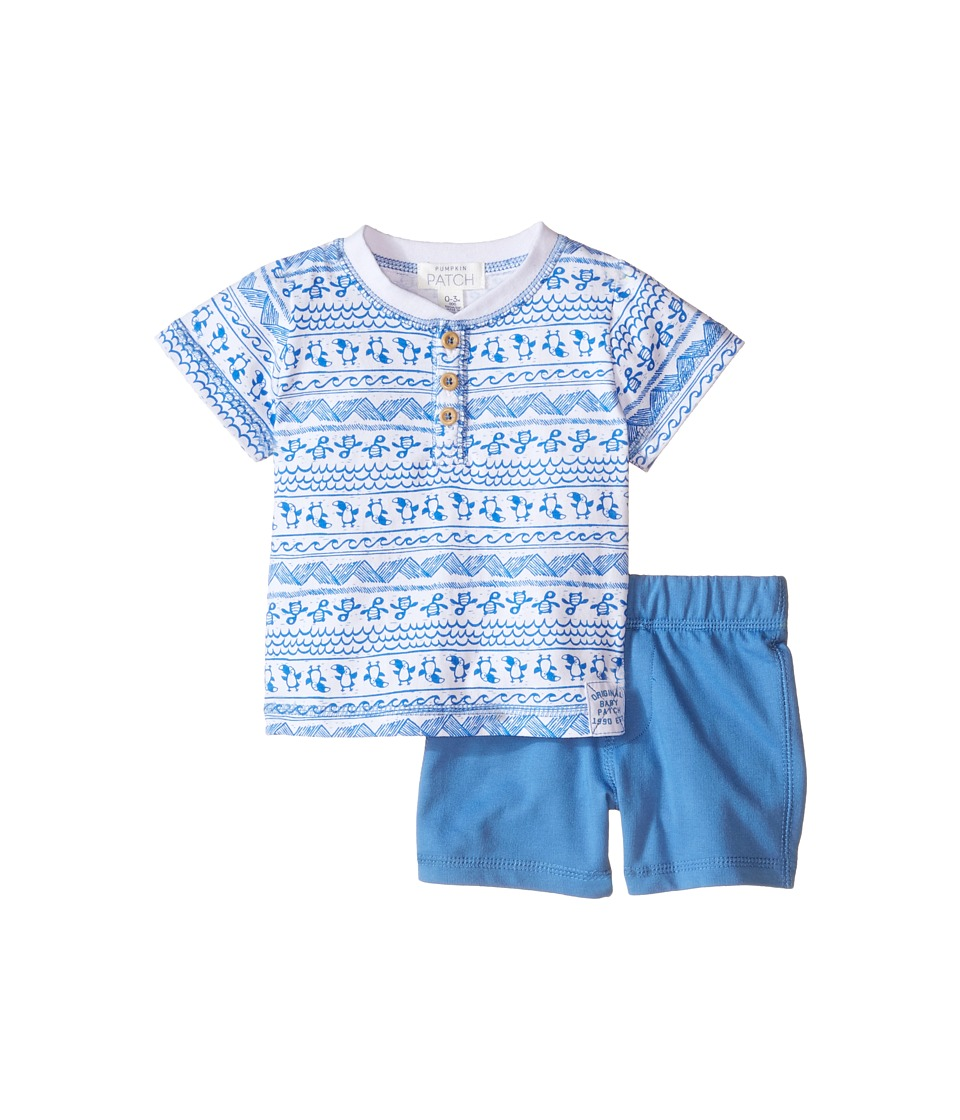 Pumpkin Patch Kids - Turtle Set (Infant) (Anchor Blue) Boy's Active Sets