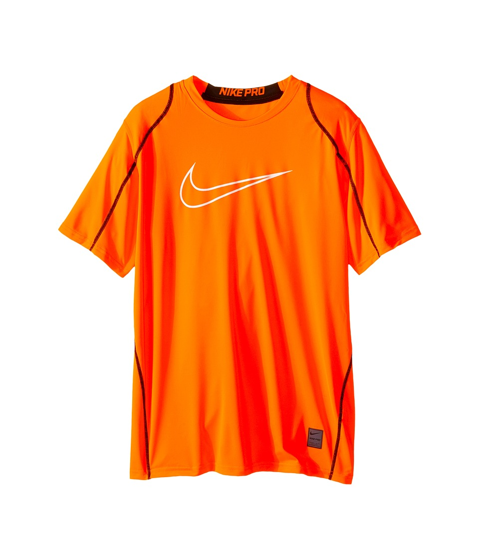 Nike Kids - Cool HBR Fitted S/S Youth (Little Kids/Bigs Kids) (Total Orange/Black/White) Boy's T Shirt